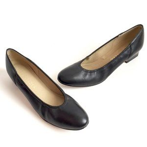 Naturalizer Vintage Black Leather Heels